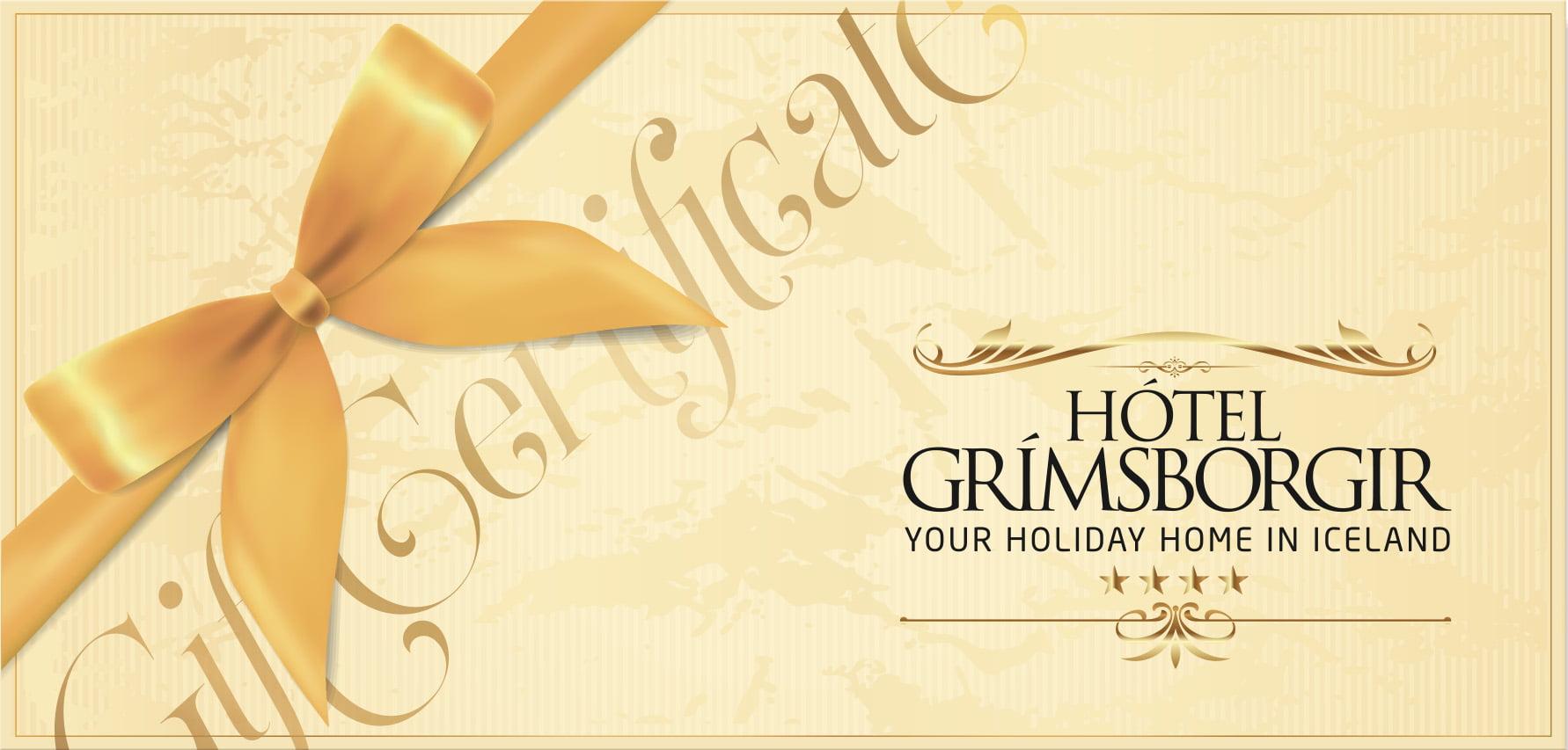 Gift Certificate Hotel Grimsborgir